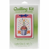 Quilling Kit - Birthday Cupcake