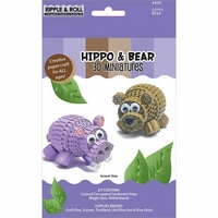 Quilling Kit - Hippo And Bear