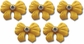 Rhinestone Tiny Bow Self-Adhesive Embellishments - Yellow