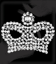 Rhinestone Word & Icon Stickers - Mini Queen Crown/Crystal - Click to enlarge