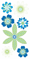 Sandylion Essentials Large Dimensional Stickers - Sea Breeze Flowers - Click to enlarge