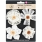 Sarasota Fabric & Paper Flowers - Dreamy 2.75""