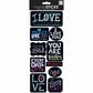 Sayings Stickers - Chalk-Love