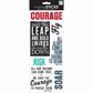 Sayings Stickers - Courage