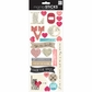 Sayings Stickers - Love Newsprint