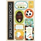 School Cardstock Stickers - I'm In Preschool