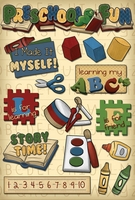 School Cardstock Stickers - Preschool Fun