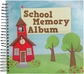 "School Memories Spiral Bound Album 12""x12"""