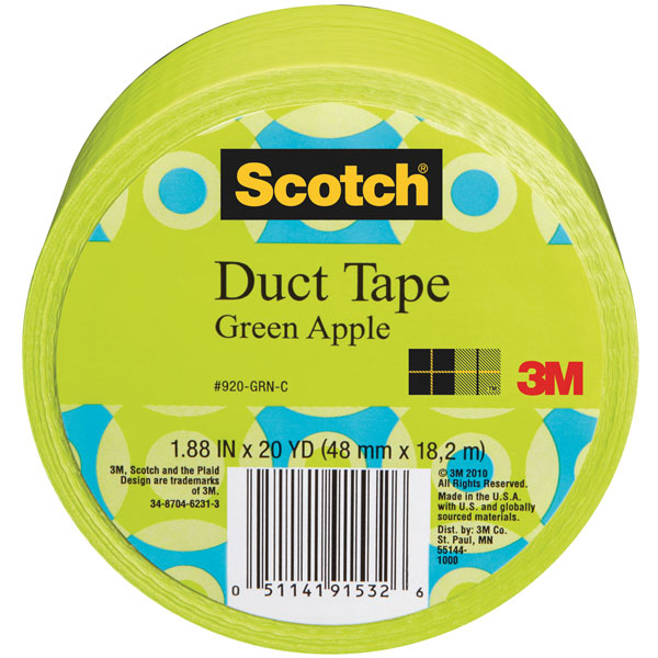 Tapes 187 duct tape 187 scotch solid color duct tape green apple