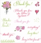 See D's Clear Rubber Stamp - Thank You