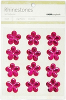 Self-Adhesive Flower Rhinestones - Hot Pink