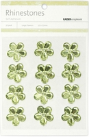 Self-Adhesive Flower Rhinestones - Mint