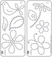 "Self-Adhesive Jewels Templates 3.5""x8"" - Flower Garden"