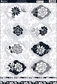 Shabby Chic Die-Cut Punch-Out Sheet - Vintage Flowers Black/White