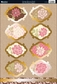 Shabby Chic Die-Cut Punch-Out Sheet - Vintage Flowers Pink/Ivory