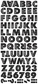 Signature Collection Military Life Jumbo Stickers Alphabet