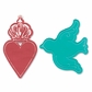 Sizzix Bigz Die/Bonus Textured Impressions Where Women Cook - Heart Crown & Bird Tags