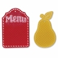 Sizzix Bigz Die/Bonus Textured Impressions Where Women Cook - Pear & Menu Tags