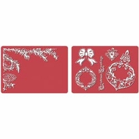 Framelits Dies w/Textured Impressions Folder - Pinecone & Ornament