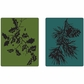 Sizzix Embossing Folders By Tim Holtz - Holly Branch & Pine Branch