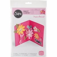 Sizzix Framelits Dies By Stephanie Barnard - Flowers Drop-Ins Card
