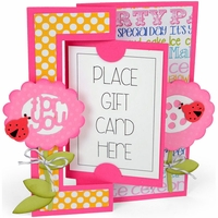 Sizzix Framelits Dies By Stephanie Barnard - Gift Card Flip-Its Card