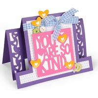 Sizzix Framelits Dies By Stephanie Barnard - Kind Sentiments Step-Ups Card