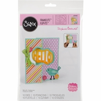 Sizzix Framelits Dies By Stephanie Barnard - Lively Frame Flip-Its Card