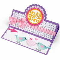 Sizzix Framelits Dies By Stephanie Barnard - Scallop Circle Stand-Ups Card