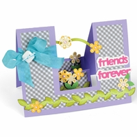 Sizzix Framelits Dies By Stephanie Barnard - Step-Ups Friends Forever