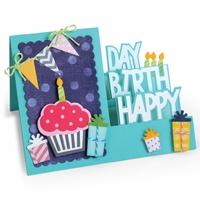Sizzix Framelits Dies By Stephanie Barnard - Step-Ups Happy Birthday