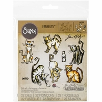 Sizzix Framelits Dies By Tim Holtz - Crazy Cats