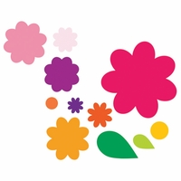 Sizzix Framelits Dies - Flower Layers & Leaf