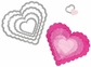Sizzix Framelits Dies - Scallop Hearts
