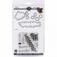 Sizzix Framelits Dies w/Clear Stamps - Beautiful You