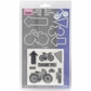 Sizzix Framelits Dies w/Clear Stamps - Bicycle
