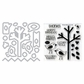 Sizzix Framelits Dies w/Clear Stamps - Birds & Tree