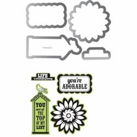 Sizzix Framelits Dies w/Stamps by Echo Park - This & That; Graceful