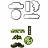 Sizzix Framelits Dies w/Stamps by Echo Park - Times & Seasons #2
