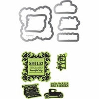 Sizzix Framelits Dies w/Stamps by Echo Park - Times & Seasons