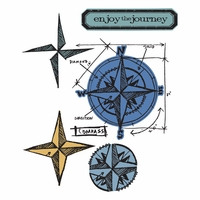 Sizzix Framelits Dies w/Clear Stamps By Tim Holtz® - Compass Blueprint