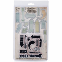 Sizzix Framelits Dies w/Clear Stamps By Tim Holtz® - Here & There