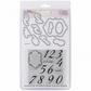 Sizzix Framelits Dies w/Clear Stamps - Elegant Table Numbers