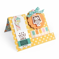 Sizzix Framelits Dies - w/Clear Stamps Happy Tags