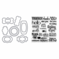 Sizzix Framelits Dies w/Stamps - Phrases