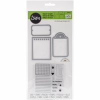 Sizzix Framelits Dies w/Stamps By Doodlebug - Notebook Paper, Tag & Ticket