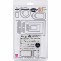 Sizzix Framelits Dies w/Stamps By Stephanie Barnard - Tags