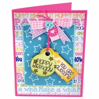 Sizzix Framelits Dies w/Stamps By Stephanie Barnard - Tags & Words