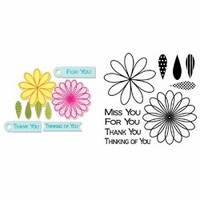 Sizzix Framelits Dies w/Stamps - Flowers & Tags