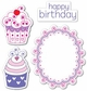Sizzix Framelits Dies w/Stamps - Happy Birthday